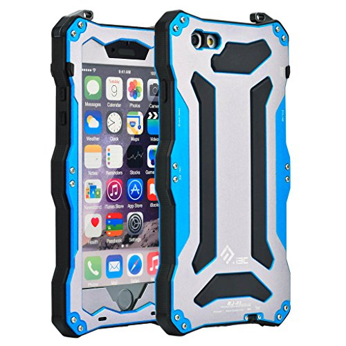 iPhone 6 Plus Case, iPhone 6S Plus Case, I3C X-Proof IV Series Protective Case Shockproof Metal Case for Apple iPhone 6 6S Plus Blue