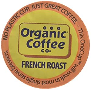 The Organic Coffee Co. OneCup, French Roast, 12 Single Serve Coffees