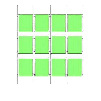 12 x A3 Draht Kabel Kits Laden-Fenster zeigt Acryl Poster Halter ...