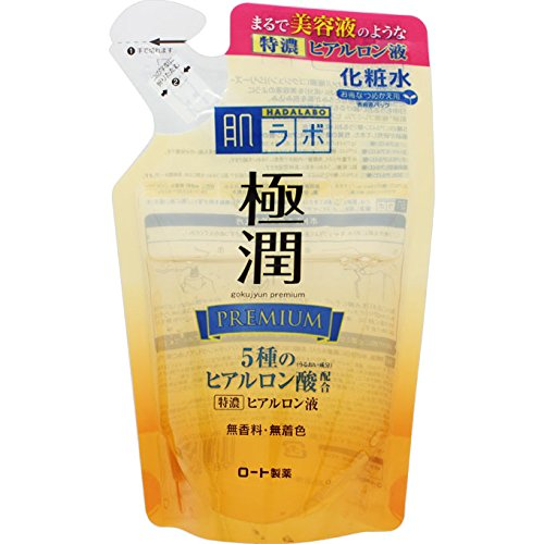Hadalabo JAPAN 170mL Refill skin Institute Gokujun premium hyaluronic ()