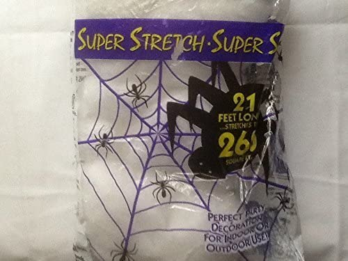 Details about  /1Pack Halloween Spider Web Super Stretchable with 8 Spiders Lot Of 1Bag