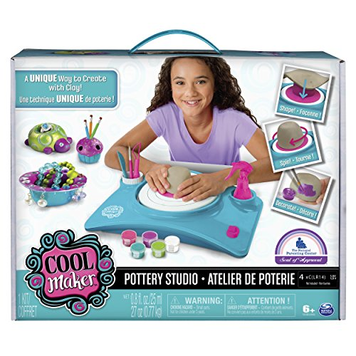 Cool Maker - Pottery Studio, Clay Pottery Wheel Craft Kit for Kids Age 6 and Up (Edition May Vary) (Cheapest Way To Put Up A Fence)
