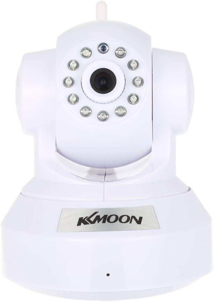 KKmoon HD 720P Cámara IP WiFi Inalámbrico Pan Tilt, Network Interior Vigilancia, Baby Monitor, PTZ, TF Tarjeta Record, 2-Vias Audio, P2P, Android/iOS APP, IR-CUT, Visión Nocturna, Detección de Movimie