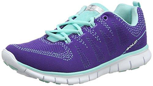 Gola Tempe, Zapatillas Deportivas para Interior para Mujer Morado (Purple/mint)