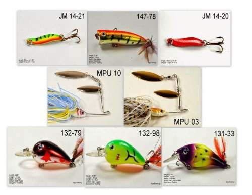 Akuna [TX] Pros' pick recommendation collection of lures for Bass, Panfish, Trout, Pike and Walleye fishing in Texas(Pan Fish 8-A) (Best Trout Fishing In Texas)
