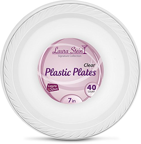 (Laura Stein Clear Plastic 7 Inch Plates Pack Of 40)