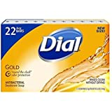Dial Antibacterial Deodorant Gold Bar Soap, 4 Ounce (Pack of 22) Net Wt 5.5 LBS
