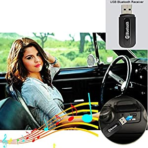 USB Bluetooth Receiver Adapter for Car Audio Stereo/Speaker/Headphone Music Car Stereo Receiver Adapter for Bluetooth