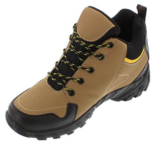 Calden–fd0349,1cm größer die Höhe Steigerung Aufzug Schuhe (braun Schnür Sneakers