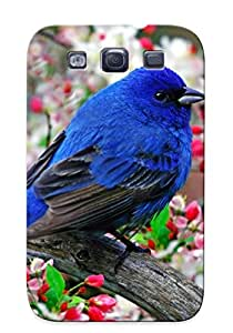 Snap-on Colorful Little Bird Case Cover Skin Compatible With Galaxy S3
