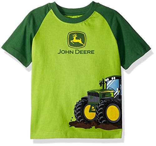 John Deere Boys' Toddler' T-Shirt Lime Green, 2T