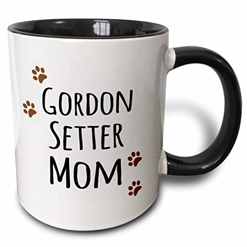3dRose 154127_4 Gordon Setter Dog Mom Mug, 11 oz, Black