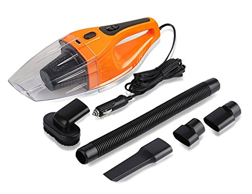Yunanwa Car Vacuum Cleaner , 120W 12V 4000PA Suction Portable Handheld Wet Dry Auto Hand Vacuum ,16.4ft /5m Power Cord Cigarette Lighter Plug
