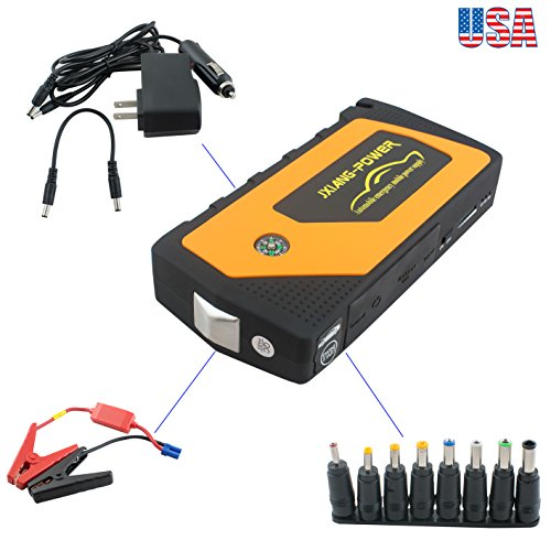 Charger 300a - Zinnor Portable Car Jump Starter, 12V 300A LED Light Power Bank External Battery Charger - Emergency Jump Pack Auto Jumper