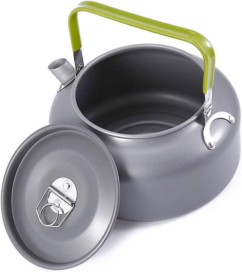 Lepeuxi 0.8L Portatile bollitore per Acqua teiera teiera caffettiera in Lega di Alluminio Coperta bollitore per t/è allaperto Campeggio Escursionismo Picnic Vaso