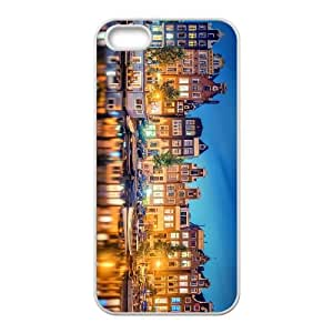 Amsterdam City Iphone 5 5S Cell Phone Case White DAVID-307050