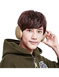 Unisex Ear Warmer Cashmere Plush Fleece Ear Cover Foldable Earmuff Behind Head
