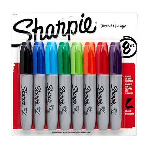 sharpie-permanent-markers-chisel-tip-assorted-colors-8-count