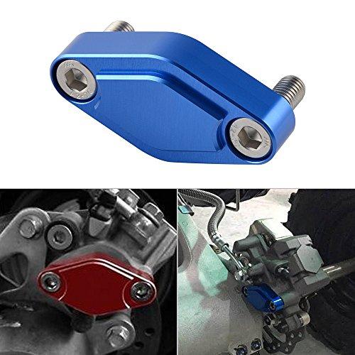 Parts Banshee Atv (NICECNC Blue CNC ATV Parking Brake Block Off Plate for Raptor 125,250,350,660,700,YFZ450/450R/X,Warrior 350,Banshee 350,TRX 450R/400EX/300EX,LTZ 400/LTR 450,KFX 400/450)