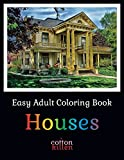 zen drawing pack - Easy Adult Coloring Book - Houses: 49 of the most beautiful buildings for a relaxed and joyful coloring time