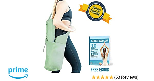 RIMSports Yoga Mat Bags for Women - Lightweight Yoga Carrier with Hoodie -  Ideal for Yoga Accessories   Yoga Gear - Large Yoga Mat Carrier Bag- Best  Yoga ... 1c05cae5a