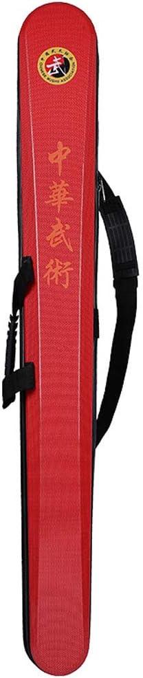 HaiYang De Doble Capa Bolsa de Espada Taiji Artes Marciales Espada Arma Espada Bolsa Estuche de Espada de Kung fu Chino Red: Amazon.es: Deportes y aire libre