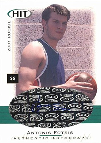fan products of Antonis Fotsis autographed Basketball Card (Panathinaikos, Greece) 2001 SAGE HIT Rookie #A9