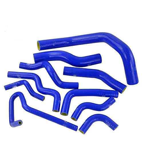 Turbo Hose Kit 2 Pcs Intercooler Radiator Blue Tube Fit For For Nissan Silvia 180SX S13 S14 SR20DET: