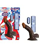 RealSkin Afro American Whoppers Vibrating 5 Inch Cock with Balls