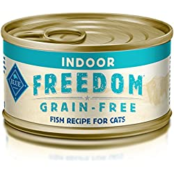 BLUE Freedom Adult Pate Indoor Fish Wet Cat Food 3-oz (Pack of 24)