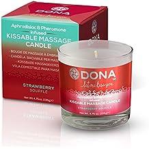 Dona Kissable Massage Candle Strawberry Soufflé Aphrodisiac & Pheromone Body Massage