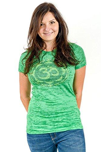 Think Positive Apparel Womens Om Burnout Crew Neck T-Shirt |XXL