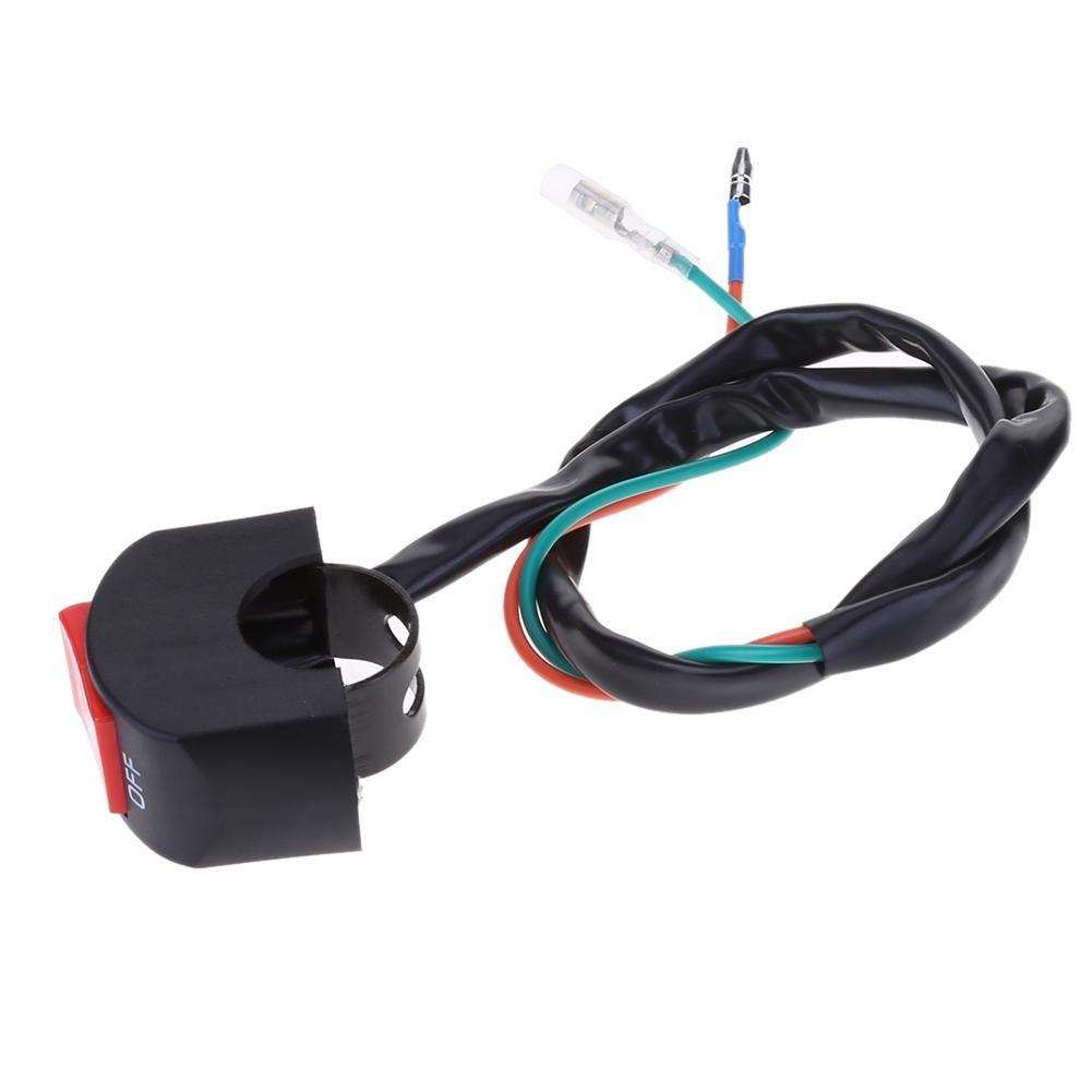 12/V 7//di pollice moto manubrio interruttore on//off per LED faro nebbia light-tuankay