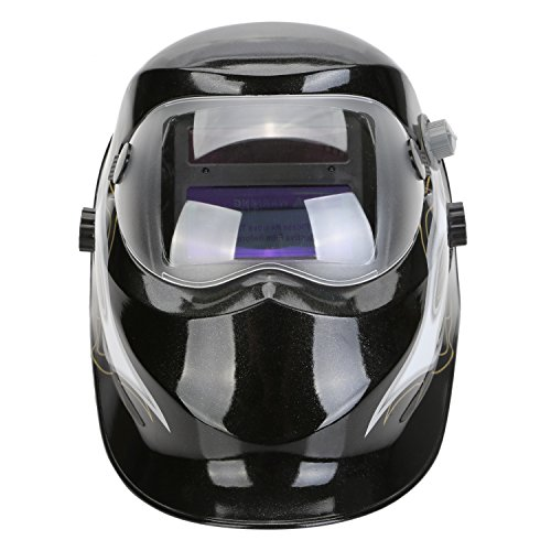 LESOLEIL Electrical Welding Helmet Solar Energy Automatic Grinding Mask (Darkening Welding Electronic Auto Helmet)