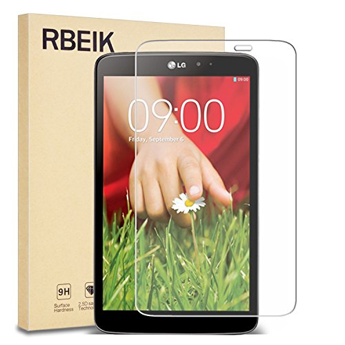 LG G Pad 8.3 Inch V500 Tempered Glass Screen Protector - RBEIK Premium 9H Hardness Tempered Glass Screen Protector for LG G Pad V500 8.3Inch Tablet with Anti-Scratch, Bubble - G Pad Lg V500