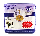 This disposable dog wrap completely and comfortably covers the male area of your dog to help stop him from marking on furniture, walls, drapes, floor, carpets and other objects. This super absorbent male dog diaper belly band wicks away urine keeping...