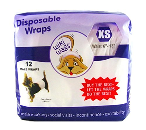 Wiki Wags Extra Small Male Dog Wraps