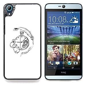 """For HTC Desire 826 Case , Tiempo de Escribir profundo blanco del reloj Negro"""" - Diseño Patrón Teléfono Caso Cubierta Case Bumper Duro Protección Case Cover Funda"""