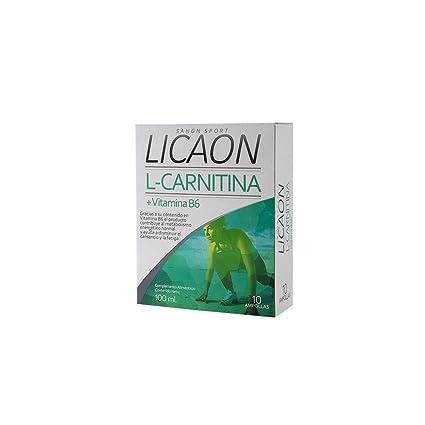 SANON - SANON SPORT LICAON L-Carnitina + Vitamina B6 10 ampollas de 10 ml