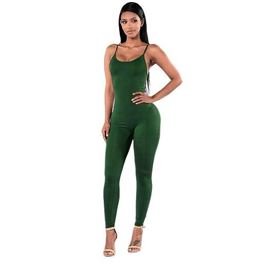 6ebe6e5360e8 Amazon.com  Aitena Sexy Jumpsuit New Women Casual Sleeveless Bodycon Romper  Club Bodysuit Long Pan  Clothing