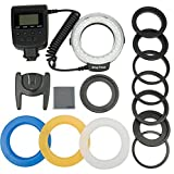 Fomito 48 Marco LED Ring Light with 8 Adapter Rings (49mm, 52mm, 55mm, 58mm, 62mm, 67mm, 72mm, 77mm) for Macro Canon/Nikon/Olympus/Sigma/Tamron Lens