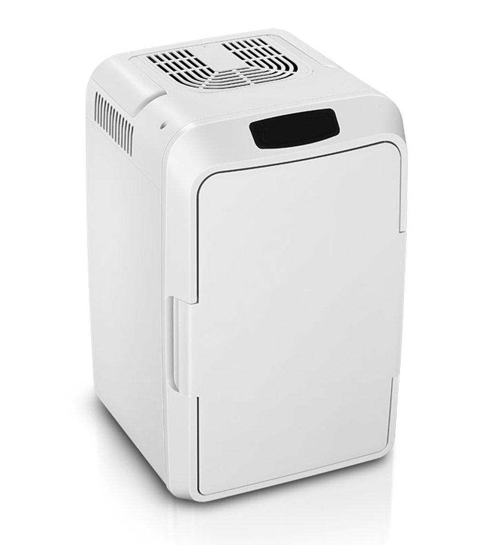 LIQICAI 12L Tragbar Mini Kühlschrank Geformte Tragegriffe 12V DC (Auto)/230V AC (Zuhause) (Farbe : Weiß, größe : 25x25x51cm)