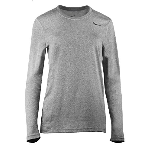 Nike Womens Legend Long Sleeve Poly Top - Grey - Medium