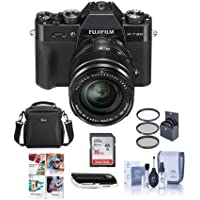 Fujifilm X-T20 Mirrorless Digital Camera Body, with XF 18-55mm F2.8-4 R LM OIS Lens, Black - Bundle With camera Case, 16GB SDHC Card, 58mm Filter Kit, Cleaning Kit, Card Reader, Software Package
