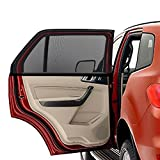 Car Window Shades, PEYOU 2 Pcs Universal Double-layer Car Door Sun Shade Shield