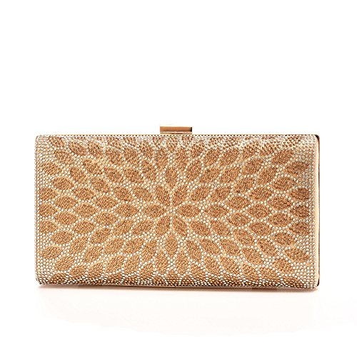 Minicastle Evening Bags for Wedding and Party Women Crystal Handbag (Clutch Purse)