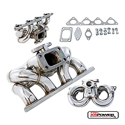 Amazon.com: XS-Power DA DC2 B16A1 B18B1 B18C1 B18C5 Ram Horn T3 T3/T4 Stainless Steel Turbo Manifold: Automotive