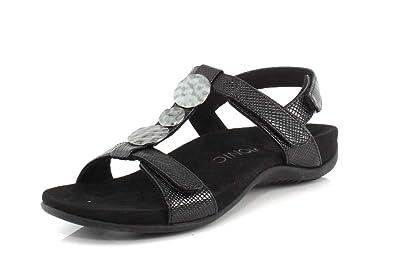 5319283bee Vionic Women's Rest Farra Backstrap Sandal - Ladies Adjustable Sandals  with Concealed