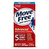 Move Free Triple Strength Glucosamine Chondroitin and Hyaluronic Acid Joint Supplement, 80 Count