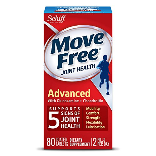 Move Free Triple Strength Glucosamine Chondroitin and Hyaluronic Acid Joint Supplement, 80 (Glucosamine Chondroitin Hyaluronic Acid)